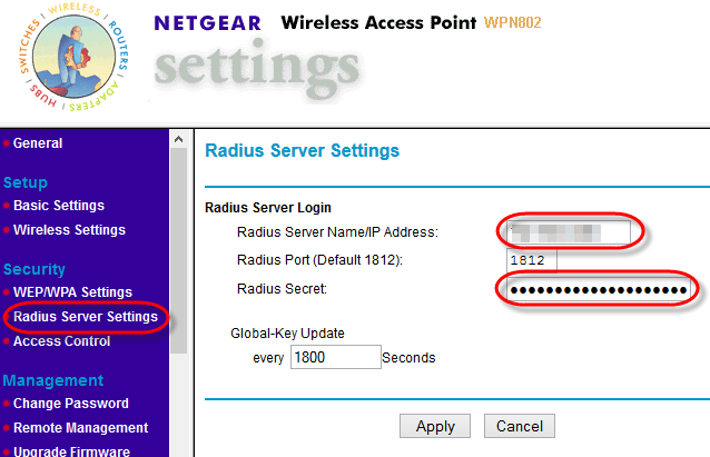 4 1 WLAN-AP-RADIUS-Settings